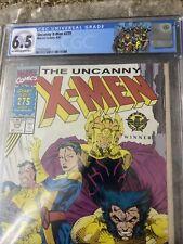Uncanny X-Men 275 CGC 6.5 FN+ RARE NEWSSTAND Jim Lee Gatefold Cover STARJAMMERS