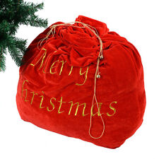 Christmas Decoration 35'' Santa Claus Gift Bag Candy Party Cookie Bags w/Belt