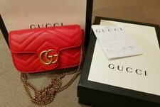 Gucci Marmont Super Mini Red Bag Geunine Gucci Bag For Sale Red