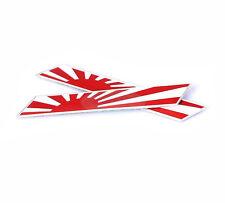 2x Metal Japan JP JASDF National Flag Decal Emblem Badge Sticker For Mazda 3 6