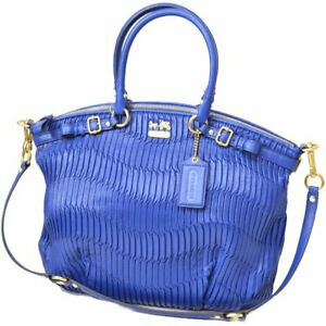 Coach 33371 Madison Sophia Gathered Leather Satchel Shoulder Bag