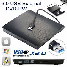 External USB 3.0 Slim Drive DVD RW CD RW Burner Copier Writer Reader Rewriter GR