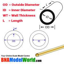 K&S Metals Thin Wall Round Brass Tube - OD: 1mm, L: 300mm, WT: 0.225mm (4pcs)