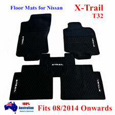 Heavy duty Floor Mats Tailored for Nissan X-trail T32 Xtrail 2014 - 2019 Black