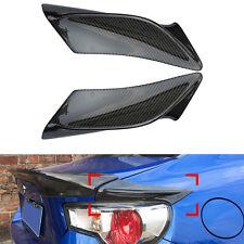 Carbon Fiber Rear Tail Light Decor Cover Trim TRD For Subaru BRZ Toyota GT86