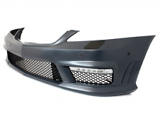 S Class W221 AMG SPORT S65 FRONT BUMPER ABS Plastic with LED DRL high quality