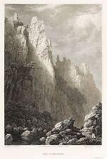 HARZ - BODETAL - ROSSTRAPPE - Batty - Stahlstich 1827