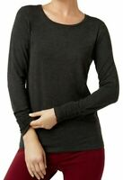 Alfani Womens Knit Top Coal Melange Gray Size XL Ruched-Cuff Jersey $39 112