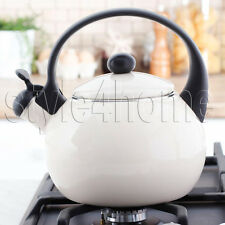 SMALTO Bollitore in acciaio inox fischiettare 2.2l elettrico piastre a gas stufa Top Crema