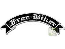 Rückenaufnäher Patch FREE BIKER Schleife oben 30cm stick, Rocker Biker Kutte