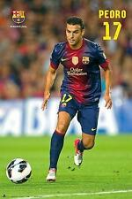 FC BARCELONA POSTER PEDRO IN ACTION