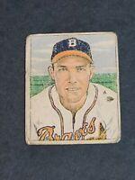 """Harold """"Pete"""" Reiser Boston Braves 1950 Bowman #193 G/VG"""