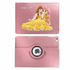 Disney Princess BELLE & PONY Personalised iPad 360 Rotating Case Cover Birthday
