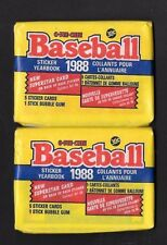 1988  O-PEE-CHEE BASEBALL , YEARBOOK STICKERS , 2 PACKS      (SEALED)