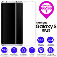 CLEAR 3D Curved Tempered Glass Screen Protector For Samsung Galaxy S8+ Plus G955