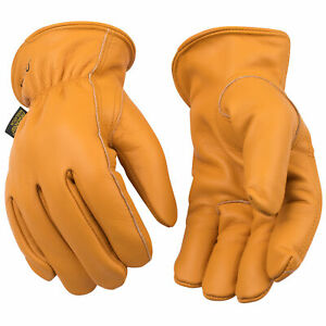 Kinco 81HK-XL Lined Grain Buffalo Leather Ranch and Work Gloves, X-Large