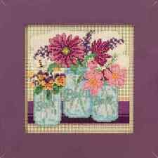 Cut Flowers Cross Stitch Kit Mill Hill 2016 Buttons & Beads Spring MH141611