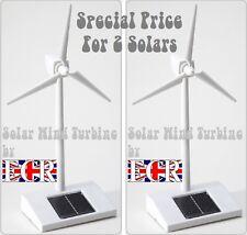 TWO yes 2 Solar Technology Executive Solar Powered Wind Turbine Big Boys Toys!