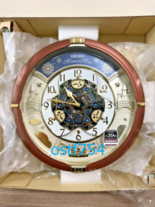 SEIKO RE601B Wall Clock Analog 52 Melody In Motion Song Automation Clock 30th