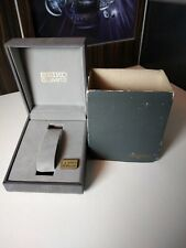VINTAGE SEIKO QUARTZ BOX Scatola Boîte Caja Kutxa Inner+Envelope DARK GREY JAPAN