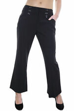 Unbranded Mid Rise Tailored Trousers Flared for Women