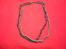 Neon Apatite, Howlite Necklace in Silvertone & Stainless-20 inches-69.13 Carats