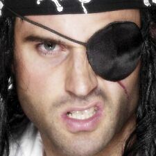 Pirate Fancy Dress Eye Patch Eyepatch Satin Caribbean Pirate by Smiffys
