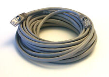 25' Foot Grey Molded Cat5e Network Cable Gold Plated RJ45 Cat 5e Ethernet 26AWG