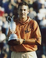 BEN CURTIS HAND SIGNED 8x10 COLOR PHOTO+COA       WITH BRITISH OPEN TROPHY
