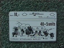 CURACAO 40+5 unit Phonecard D1 1st Issue Church - USED
