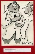 Franz FEHLING - ÄRTZLICHE PRAXIS - STUHLGANG - Handsignierte Orig.Zeichnung 1960