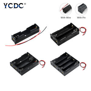 Plastic 18650 Battery Case Holder Storage Box with Wire Leads or Hard Pins 692D