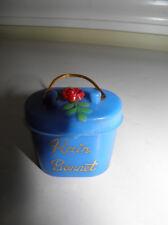 Vintage Plastic Rain Bonnet In Plastic Case With Flower