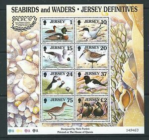 JERSEY 1997 SEABIRDS AND WADERS PACIFIC 1997 MINIATURE SHEET .UNMOUNTED MINT, MN