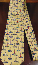 Museum Artifacts All silk Lighthouses tie