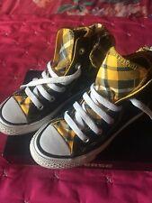 Black/tartan Converse Girls Boot With Bow 11