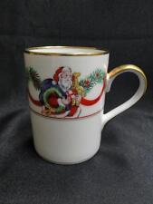 """Fitz & Floyd Christmas Wonderland, Santa, Toys, Gold Trim: Mug (s) 4"""""""
