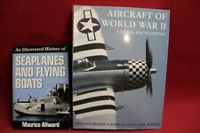 2 BOOKS AIRCRAFT OF WWII & SEAPLANES & FLYING BOATS - FREE SHIPPING