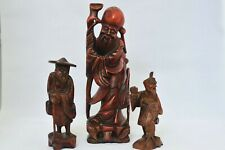 ANTIQUE LOOKING SET OF 3 UNIQUE CHINESE WISE MAN FIGURES HANDMADE