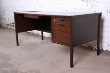 Jens Risom Mid-Century Modern Walnut Executive Desk, 1960s