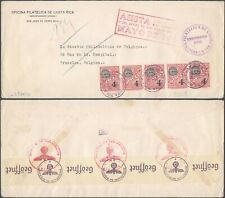 Costa Rica WWII 1941 - Cover to Brussels Belgium - Censor D140