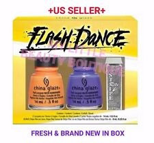 China Glaze Lacquer Nail Polish FLASH DANCE 3pcs Nail Art Set Silver Stripe BNIB