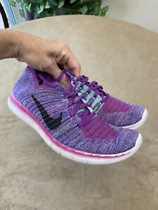 NIKE Free Yourh Size 5.5Y Purple Athletic Shoes 834363-500
