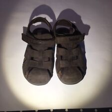 Boy's Timberland  Shoes Fisherman Sandals Size 1  EEUC leather Earthkeepers