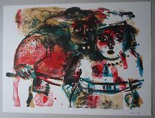 ATILA BIRO (1931-1987) - Lithographie  - COMPOSITION 1984  - Signé