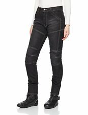 """Roleff Ladies Armoured with Kevlar Motorcycle  Jeans,  Washed Black  31"""" waist"""