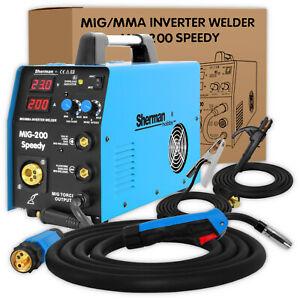 Sherman® MIG 200 SPEEDY Schweißgerät MIG MAG 200amp FCAW ARC MMA FLUX