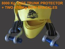2 X 4.7 T BOW SHACKLES AND 8 TONNE TREE TRUNK PROTECTOR TOW STRAP RECOVERY 4X4