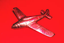 Sterling Silver Brooch Airplane Aircraft WWII USAF Fighter Aviation Free S/H