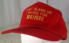 I Voted For Bush Hat Vtg 90's Snapback Cord Red Anti-Clinton Rare Vhtf Youngan